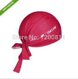 Venta al por mayor de 2015 Nuevo Precio más bajo sudor ciclo de la bicicleta de la bici del sombrero del sombrero de la venda Prueba Riding pirata rojo del casquillo de la bufanda de un tamaño que envía libremente desde los precios al por mayor de las bicicletas liberan el envío fabricantes