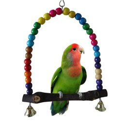 Wholesale Colorful Bird Toy Parrot Swing Cage Toys For Parakeet Cockatiel Budgie Lovebird