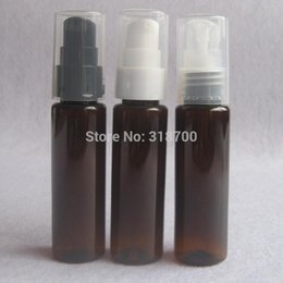 Free shipping -50 *30ml amber Plastic Lotion Pump Bottle,1oz amber lotion Bottle,30cc cosmetic packaging, cosmetic container