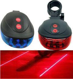 Bike Laser Light (2 Laser+5 Led) Mountain Bike Flashlight Bicycling Lamp Cycing Rear Tail Light