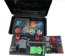 Wholesale beyblade set as children gifts more that spare parts beyblades handles launchers beyblade box