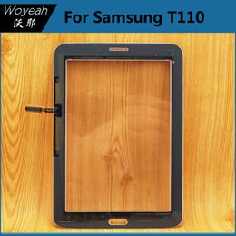 2017 écran tactile pour samsung Samsung Galaxy Tab 3 Lite 7.0 T110 Ecran tactile Numériseur Verre Panneau Blanc et Noir Réparation Pièces de rechange Objectif budget écran tactile pour samsung