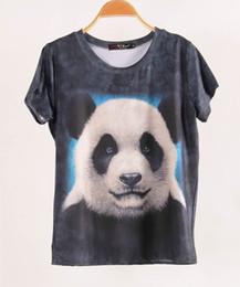 2017 crème glacée animale FG1509 Vente chaude à manches courtes femmes T-shirt 3D Tops Tees 2015 Taille T-shirtPlus Leopard Dog Panda animaux Ice Cream Elephant Women crème glacée animale à vendre
