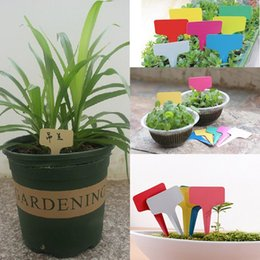 Wholesale 100pcs Hot Sale Plastic Plant T type Tags Markers Nursery Garden Labels Signs Plant Hanging Tags