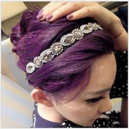 Hot Selling Beaded Jewelry Rhinestone Headband For Women Glamorous Vintage Korea Shining Hair Accessories Drop Shipping