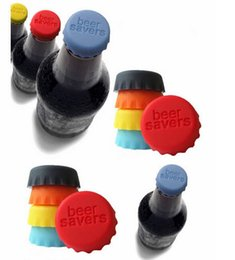 Wholesale Newest Creative silicone beer savers bottle cap mix colors Wine Beer Caps Savers bottle top covers