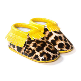 Leopard Baby Boys Shoes Toddler First Walkers Children Moccasins Handmade Hot Sale