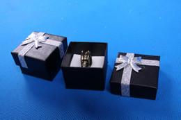 Wholesale 4 cm noir bijoux affichage boîte d emballage présentoir bijoux bague boîte cadeau boîte affichage boîte