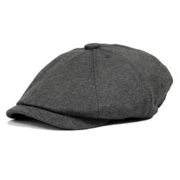 Wholesale Color Octagonal cap newsboy cap painter cap male women s general winter fashion vintage cotton warm hat