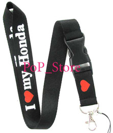 Wholesale men s automobile car I lovelogo KEY Chain Lanyard neck lanyards Cell Phone Straps Charms ID Holder colors can choose car