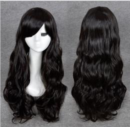 Livraison gratuite *** Long Wavy Perruque Cosplay cheveux synthétiques Sexy Femmes Girls Anime perruques pleines perruque noire à partir de perruque anime girl black fournisseurs
