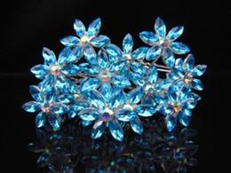 100 PCS Snowflack Flower Wedding Bridal Crystal Hair Pins Rhinestone Cosplay jewelry Hair Accessories Free Shipping