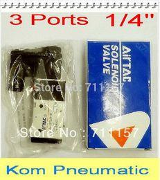 Wholesale 10pcs Fedex Way quot BSP Inch Airtac Pneumatic Solenoid Valve V210 v v v v DC AC