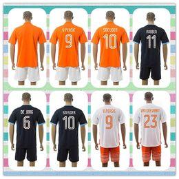 Wholesale New Product Netherlands Uniforms Kit V Persie BLIND Sneijder Robben VAN DER VAART Gullit Orange Blue Soccer Jersey Full Shirt
