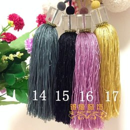 Wholesale-Curtain accessories box crystal ball hanging curtains hanging ear lob lace fringed DIY decoration small wholesale price