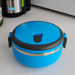 Wholesale New Stainless Steel Lunch Box with handle Thermos for Food Container insulation Student Bento box Dinnerware discount sale TY1450