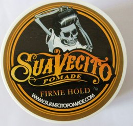 HOT!!Suavecito Pomade Strong style glass globe wax restoring ancient ways is big skeleton hair slicked back hair oil wax mud best hair wax