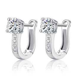 925 sterling silver earring jewelry Swiss crystal earrings wedding vintage circle shaped high quality new arrival