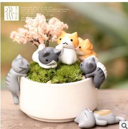 Wholesale Kids Style Cheese Cat Action Figures Mini Cat PVC Toys Figures Model Toy Best Decoration For Children