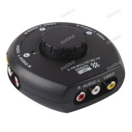 Wholesale dealward Limited Sales Way Audio Video AV RCA Switch Selector Box Splitter w RCA Cable for XBox PS2 Top grade