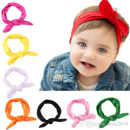 Hot New Arrive knot tie headband headwrap Vintage Head Wrap Photo Prop stretchy Knot Girls Hair Accessories