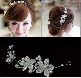 Wholesale The Bride Pearl Diamond Chain Of Soft Tire Frontal Decorated Headdress Flower Flower Dress Accessories