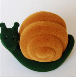 New Velvet Ring Box ring box, snail shape Jewelry Display Gift Case,sold per bag of 20 pcs