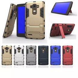 Wholesale Dual Layer Slim Shock Proof Armour With KickStand Case Cover for LG G4 G4 Note G Stylus Stylo LS770 Leon K10 K7 V10 Class iphone s plus
