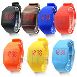 Unisex Touch Design Digital LED Silicone Sports Wrist Watch For Women Men