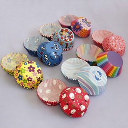 Wholesale Round Shape Colorful Paper Cupcake Liners Muffin Cases Greaseproof Dessert Cups Baking Mold JE0053 salebags