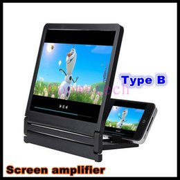 Wholesale Cell Phone Screen Amplifier Magnifier D Glasses Movie TV Enlarged screen Stand Holders For Apple Samsung Smart Phone With Retail Package