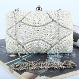Factory-direct Retaill Wholesale brand new handmade fantastic beaded evening bag clutch with satin pu for wedding banquet party porm