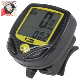 Wholesale SD C Wireless Waterproopf x mm LCD Digital Speedometer Bicycle Hour Meter Cycling Odometer OUT_138