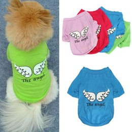 Lovely Small Pet Dog Clothes Love Cotton Angel Wing Pattern T-shirt Puppy Cute Shirt Spring Summer Clothing