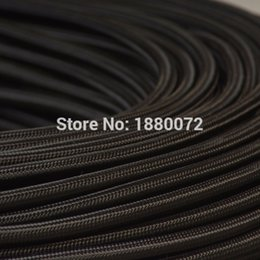 Wholesale mm Copper Cloth Covered Electrical Wire Vintage Style Lamp Cord Antique Decorative braided cable