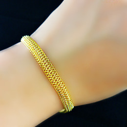 "Mens jewelry Long 8.2"" 6MM 14k YELLOW GOLD FILLED MENS and Womens Solid BRACELET Herringbone link CHAINS NEW arrival xmas gift"