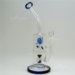 Christmas Gifts Blue eagle Colorful Animal Two Functions bong Eagle Fish Frog Swan Honeycomb Oil Rigs Glass Bongs dab two functions bong