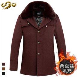 Fall-Sales Fiery Autumn Winter New Medium Length Men Wool Coats Casual Solid Color Turn Down Collar Winter Fashion Brand Woolen Coats