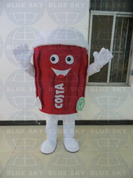 2015 NEW Adult coffee cup mascot costume coffee cup costume with free logo for sale