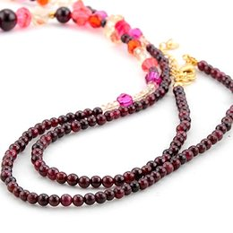 more color crystal beads chain women's necklace (spwhy)