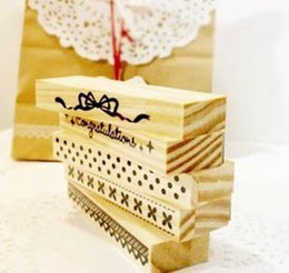 Wholesale-Free Shipping!NEW Lace Wood stamp Set   Multi-purpose decoration   dot & bow stamp   mini wood stamp   DIY funny work