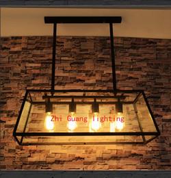 American Loft retro industrial bar lights Nordic creative restaurant bar living room lights personalized glass chandeliers