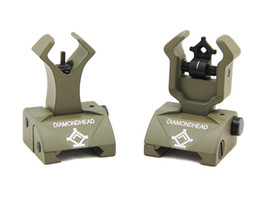 Diamondhead DIAMOND Combat Flip-Up Rear & Front Sight for Picatinny Rail Dark Earth