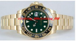 Wholesale Factory Supplier Luxury Fashion Watch GMT II Yellow Gold Green Dial Ceramic LN Ceramic Bezel WATCH Men s Watches