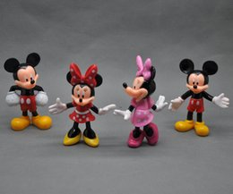 Free Shipping 4PCS New Mickey Minnie Mouse PVC Action Figures Doll Toys Set Kid Christmas Gift