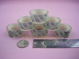 Wholesale 72 Rolls Office Stationery Clear Adhesive Scotch Tape Crystal Sellotape mm x yard_1 quot Core