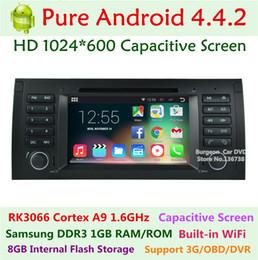 Wholesale 1024X600 quot Dual Core Android Car DVD Player Auto radio GPS G Wifi OBD BT Suitable For BMW E39 E53 M5 E38 X5 Radio Stereo