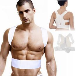 Wholesale Men Women Magnetic Posture Back Support Corrector Belt Band Feel Belt Brace Shoulder Braces Supports for Sport Safety