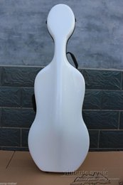 Wholesale 4 Cello Case Hard case Carbon Fiber Strong Light High quality White Color New