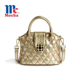 Wholesale New Design Pu Shoulder Crossbody Bags For Women Embroidery Women Messenger Bags Plaid Women Leather Handbags Tote DB5422